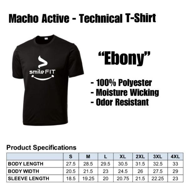 PRODUCT Spec - Macho Active Ebony